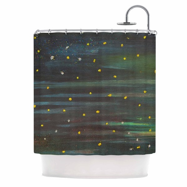 KESS InHouse NL Designs Star Fields Blue Green Shower Curtain (69x70)