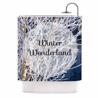 KESS InHouse NL Designs Winter Wonderland White Blue Shower Curtain (69x70)