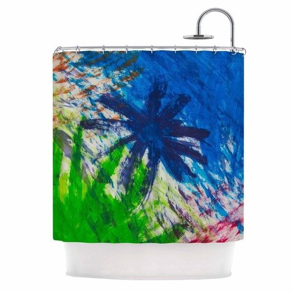 KESS InHouse NL Designs Splatter Stars Abstract Painting Shower Curtain (69x70)