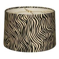 Royal Designs Shallow Drum Lamp Shade, Zebra, 11 x 12 x 8.5