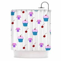 KESS InHouse NL Designs Sweet Treats Food Blue Shower Curtain (69x70)