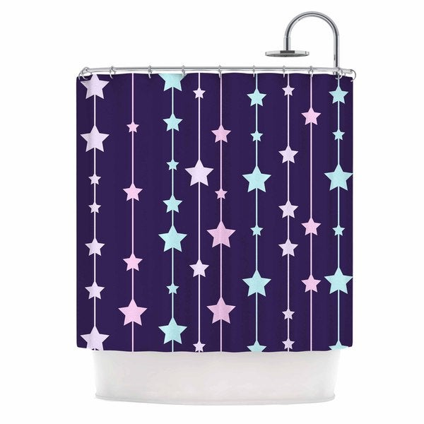 KESS InHouse NL Designs Twinkle Twinkle LIttle Star Purple Pastel Shower Curtain (69x70)
