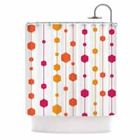 KESS InHouse NL Designs Warm Dots White Pattern Shower Curtain (69x70)