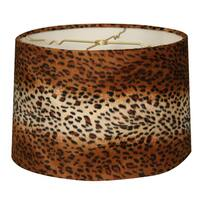 Royal Designs Shallow Drum Lamp Shade, Leopard, 15 x 16 x 10