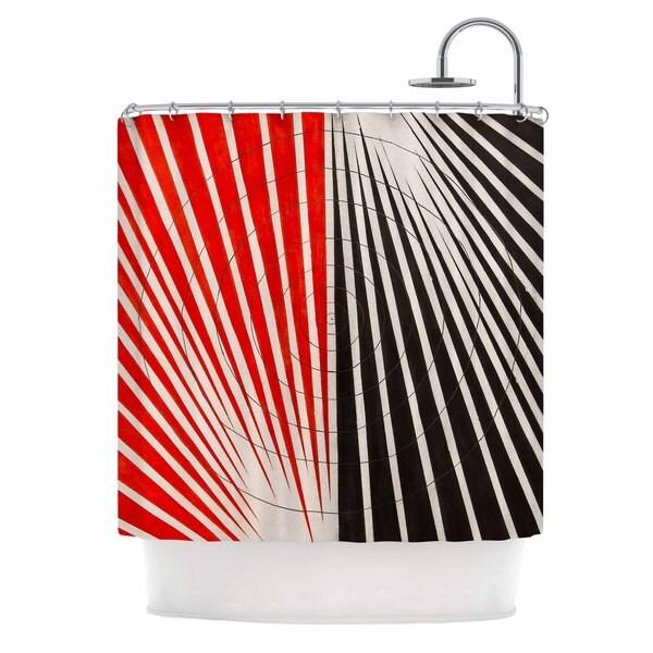 KESS InHouse NL Designs Optical Illusions Red Black Shower Curtain (69x70)