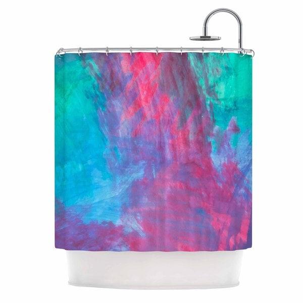 KESS InHouse NL Designs Bold Choice Teal Painting Shower Curtain (69x70)