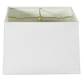 Royal Designs Square Hard Back Lamp Shade, Linen White, (15x15) x (16x16) x 10