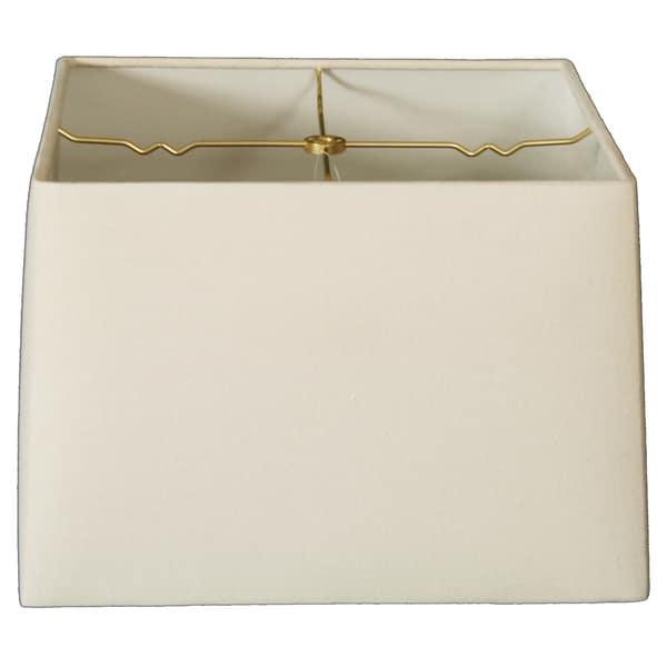 Royal Designs Square Hard Back Lamp Shade, Linen Eggshell, (15x15) x (16x16) x 10