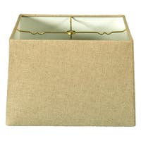 Royal Designs Square Hard Back Lamp Shade, Linen Cream, (15x15) x (16x16) x 10