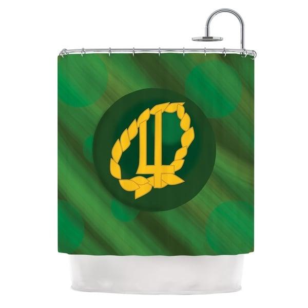 KESS InHouse NL Designs Jupiter Green Emerald Shower Curtain (69x70)
