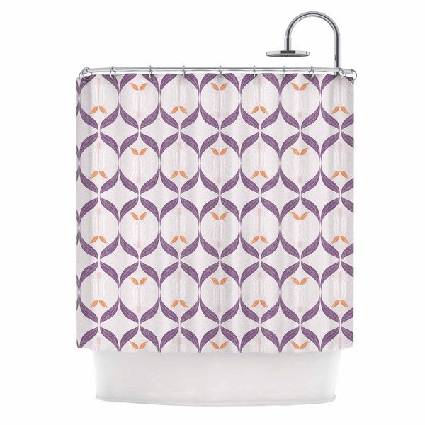 KESS InHouse Neelam Kaur Textured Modern Reminisence White Pink Shower Curtain (69x70)