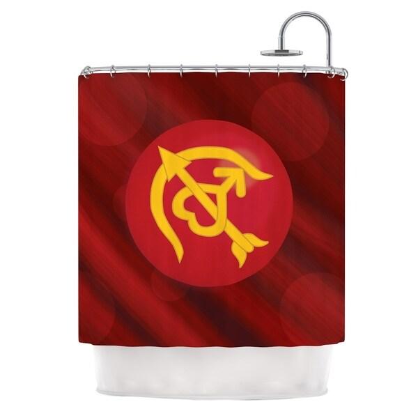 KESS InHouse NL Designs Mars Red Marsala Shower Curtain (69x70)