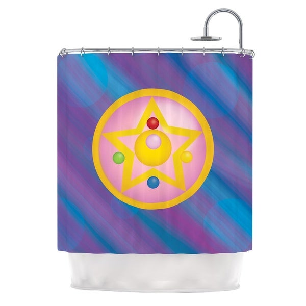 KESS InHouse NL Designs Moon Purple Blue Shower Curtain (69x70)