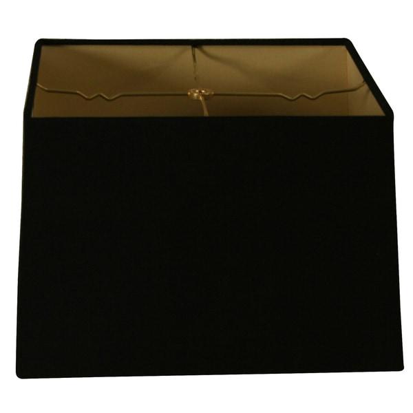 Royal Designs Square Hard Back Lamp Shade, Linen Black, (15x15) x (16x16) x 10