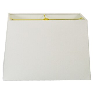 Royal Designs Rectangle Hard Back Lamp Shade, Linen White, (8x16) x (10x18) x 12