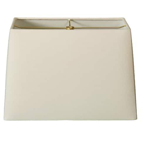 Royal Designs Rectangle Hard Back Lamp Shade, Linen Eggshell, (8x16) x (10x18) x 12