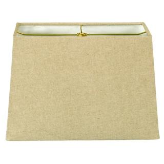 Royal Designs Rectangle Hard Back Lamp Shade, Linen Cream, (8x16) x (10x18) x 12