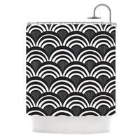 KESS InHouse Nicole Ketchum Art Deco Black Shower Curtain (69x70)