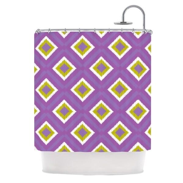 KESS InHouse Nicole Ketchum Purple Spash Tile Shower Curtain (69x70)