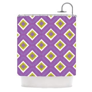 KESS InHouse Nicole Ketchum Purple Spash Tile Shower Curtain (69x70)