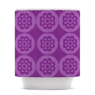 KESS InHouse Nicole Ketchum Moroccan Purple Shower Curtain (69x70)