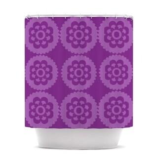 KESS InHouse Nicole Ketchum Moroccan Purple Shower Curtain (69x70)