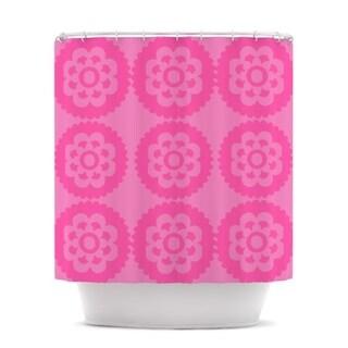 KESS InHouse Nicole Ketchum Moroccan Pink Shower Curtain (69x70)