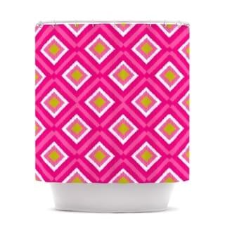 KESS InHouse Nicole Ketchum Moroccan Hot Pink Tile Shower Curtain (69x70)