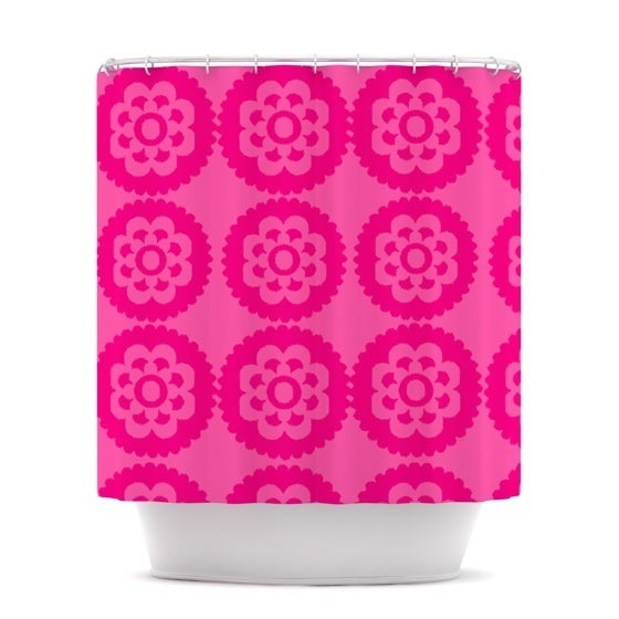 KESS InHouse Nicole Ketchum Moroccan Hot Pink Shower Curtain (69x70)