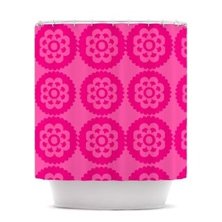 KESS InHouse Nicole Ketchum Moroccan Hot Pink Shower Curtain (69x70)