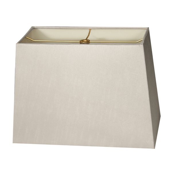 Royal Designs Rectangle Hard Back Lamp Shade, Gray, (8x16) x (10x18) x 12