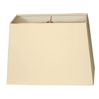 Royal Designs Rectangle Hard Back Lamp Shade,Eggshell, (8x16) x (10x18) x 12