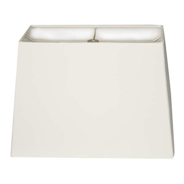 Royal Designs Rectangle Hard Back Lamp Shade, White, (8x16) x (10x18) x 12