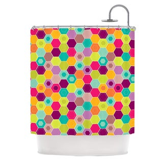 KESS InHouse Nicole Ketchum Arabian Bee Shower Curtain (69x70)