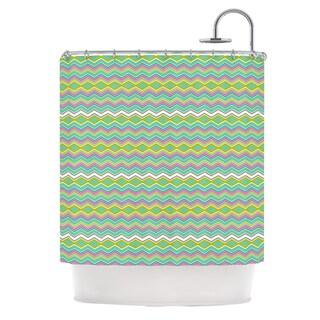 KESS InHouse Nicole Ketchum Chevron Love Shower Curtain (69x70)