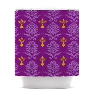 KESS InHouse Nicole Ketchum Purple Crowns Shower Curtain (69x70)
