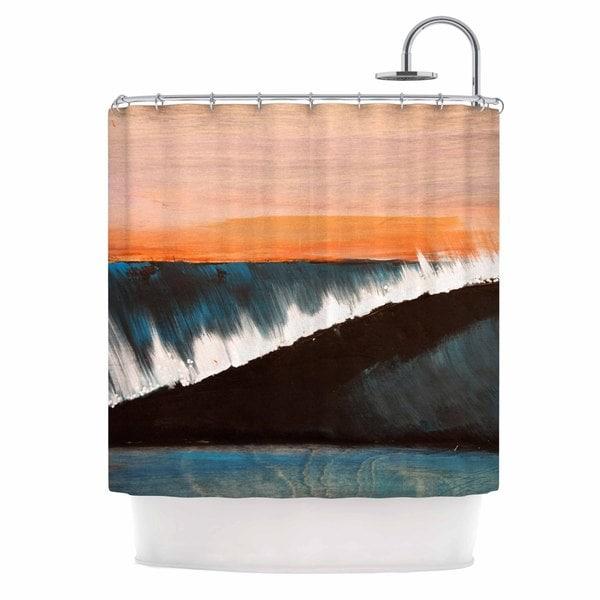 KESS InHouse Nathan Gibbs Clean Slate Blue Orange Shower Curtain (69x70)
