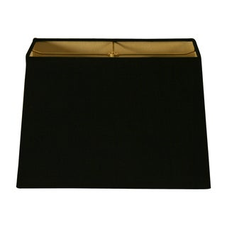 Royal Designs Rectangle Hard Back Lamp Shade, Black, (7x14) x (9x16) x 11