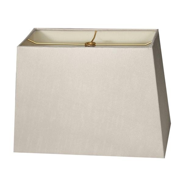 Royal Designs Rectangle Hard Back Lamp Shade, Gray, (7x14) x (9x16) x 11
