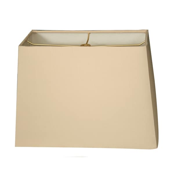 Royal Designs Rectangle Hard Back Lamp Shade, Beige, (7x14) x (9x16) x 11
