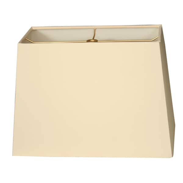 Royal Designs Rectangle Hard Back Lamp Shade, Eggshell, (7x14) x (9x16) x 11