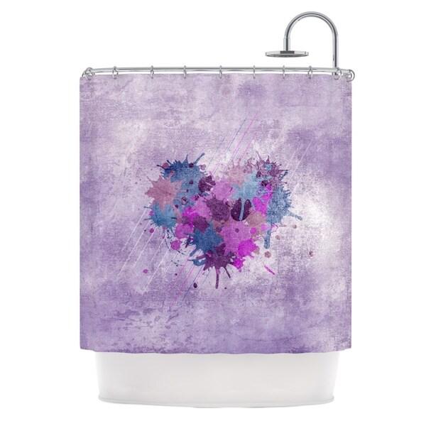 KESS InHouse Nick Atkinson Painted Heart Shower Curtain (69x70)