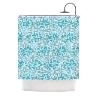 KESS InHouse Nick Atkinson Ocean Swirl Teal Green Shower Curtain (69x70)