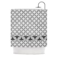 KESS InHouse Nick Atkinson Diamond Black Shower Curtain (69x70)