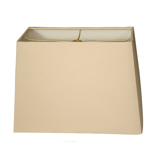 Royal Designs Rectangle Hard Back Lamp Shade, Beige, (6x12) x (8x14) x 10