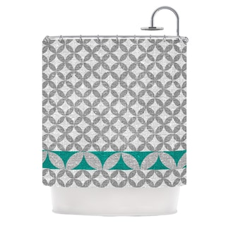 KESS InHouse Nick Atkinson Diamond Turquoise Shower Curtain (69x70)