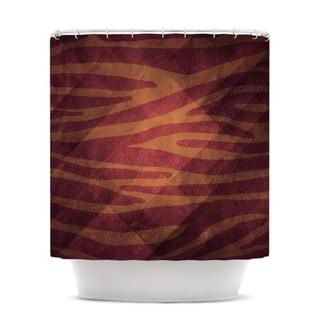 KESS InHouse Nick Atkinson Red Zebra Texture Shower Curtain (69x70)