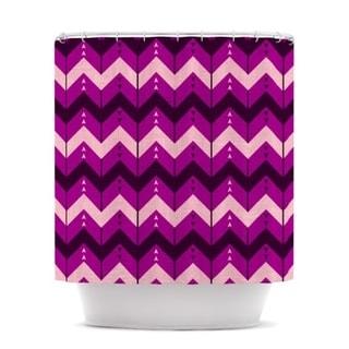 KESS InHouse Nick Atkinson Chevron Dance Purple Shower Curtain (69x70)