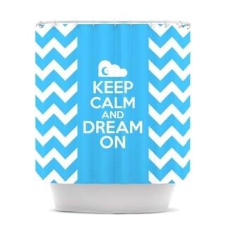 KESS InHouse Nick Atkinson Keep Calm Shower Curtain (69x70)