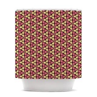 KESS InHouse Nick Atkinson Infinite Flowers Red Shower Curtain (69x70)